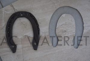 horse shoe-waterjet cut ceramic tile 1