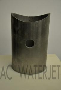 Pipe Stainless Steel Waterjet Cut 4.500 inch OD 4