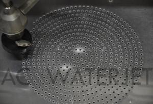 Speaker panel 0.125 inch aluminum-waterjet cut 1