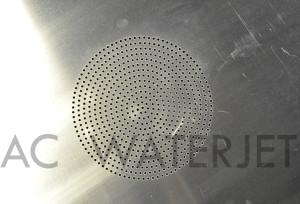 Speaker panel 0.125 inch aluminum-waterjet cut 3