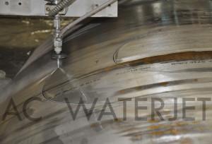 waterjet cutting high pressure vessel materials 2.250 inch 1
