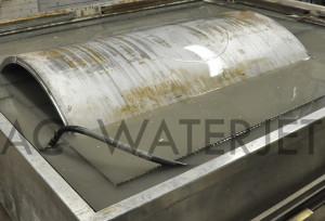 waterjet cutting high presure vessel material 2.250 inch 10