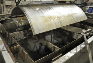 waterjet cutting high presure vessel material 2.250 inch 13