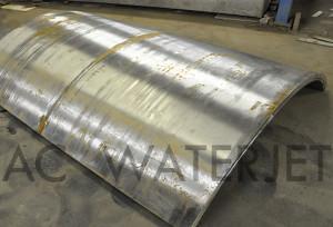 waterjet cutting high presure vessel material 2.250 inch 5