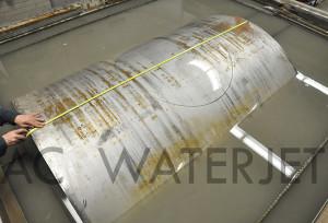 waterjet cutting high presure vessel material 2.250 inch 9