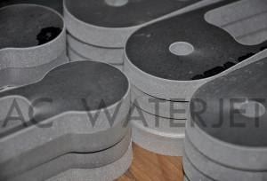 ALUMINUM 6061 - 0.375 INCH WATERJET CUTTING 1